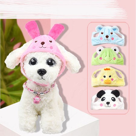 Funny Hats For Dogs (Cute Cartoon Aniaml Shape Pet Hat for Dogs Teddy Funny Cosplay Prop Rose red rabbit)