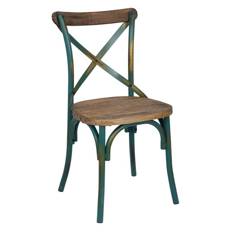 ACME Zaire Side Chair, Walnut & Antique Turquoise