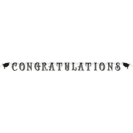 Classic Graduation Banner, 5 ft, 1ct (Graduations Decorations)