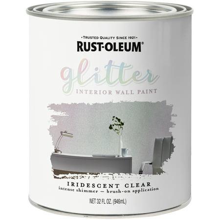 Rust-Oleum Glitter Interior Wall Paint 32oz-Iridescent - Glitter For Paint