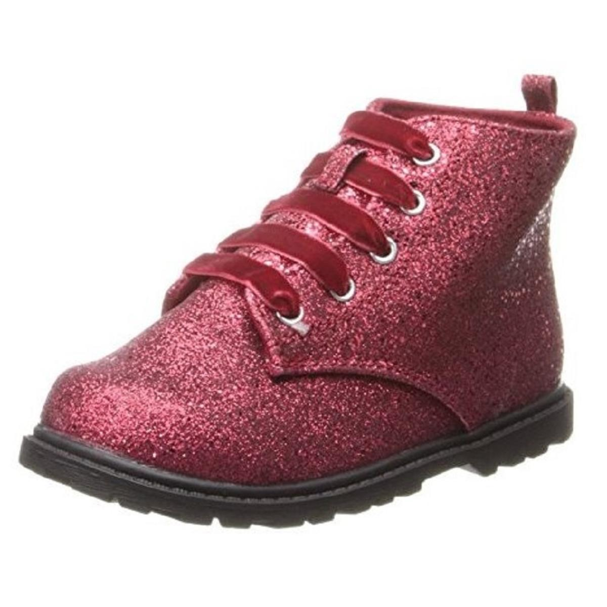 Natural Steps Unisex Red Glitter Shoes