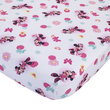 Pink And White Minnie Mouse (Disney Minnie Mouse 2-Piece Toddler Sheet and Pillowcase)