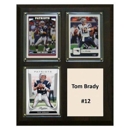 Tom Brady New England Patriots Pictures - C&I Collectables NFL 8x10 Tom Brady New England Patriots 3-Card Plaque