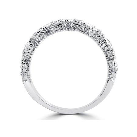 1/10ct Vintage Diamond Wedding Ring 14K White Gold - image 1 of 2