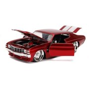 Jada Toys 31654 1971 Chevrolet Chevelle SS Glossy Stripes Bigtime Muscle 1 by 24 Diecast Model Car Play Vehicle