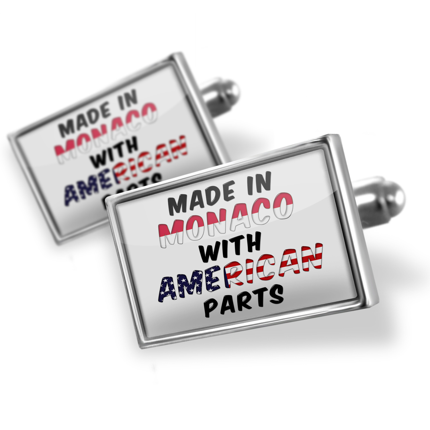 Cufflinks American Parts but Made in Monaco - NEONBLOND