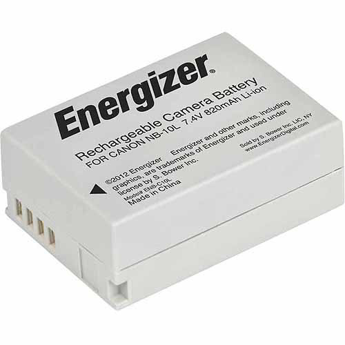 Energizer ENB-C10L Digital Replacement Battery NB-10L for Canon G1X, G15, SX-40 and SX-50 (Black)