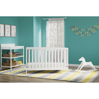 Storkcraft Carousel Nursery In A Box, White | Crib, Changing Table, and Rocking Horse