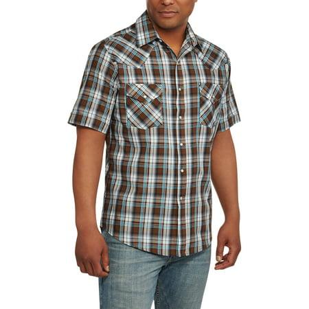 Plains tall men 39 s short sleeve western shirt for Mens tall western shirts