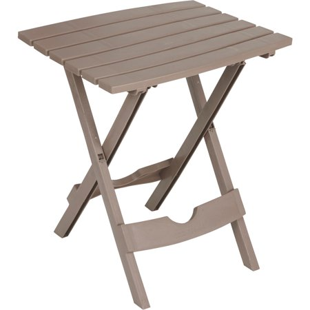 Adams Manufacturing Resin Quik Fold Side Table Portobello