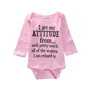 Cotton Newborn Baby Girls Bodysuit,Baby Shower Gift, Baby Girl Clothes Pink, Take Home Outfit