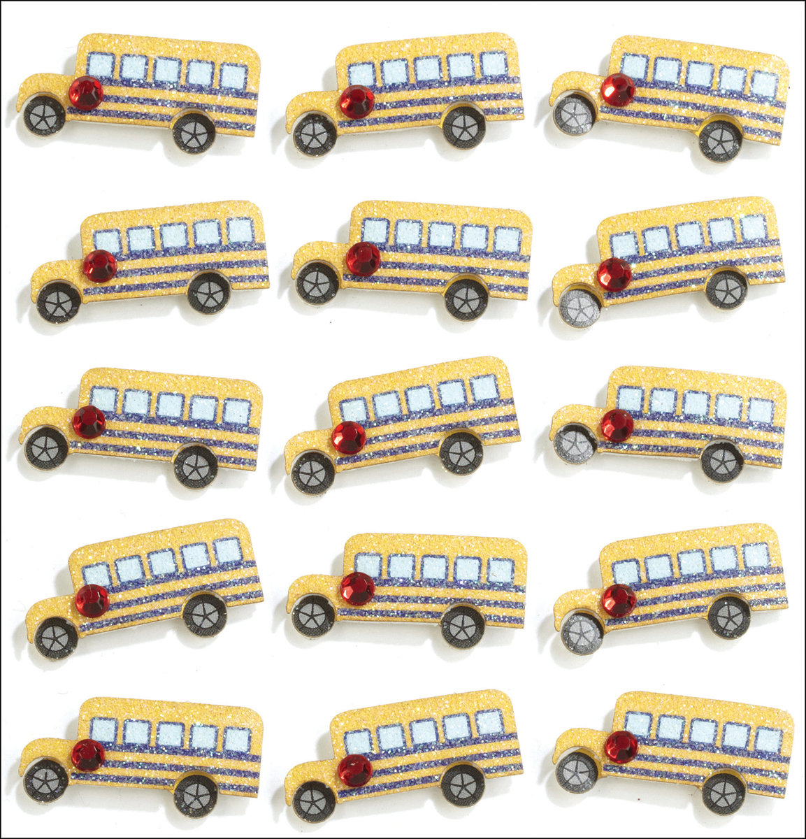 Jolees Boutique Repeats Dimensional Stickers, School Bus Multi-Colored