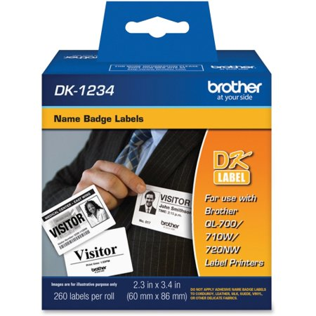 Brother DK1234 Brother Name Badge Label - 2.36