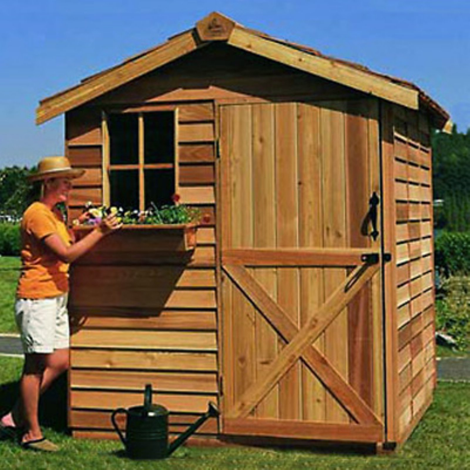Cedar Shed 6 x 9 ft. Gardener Storage Shed