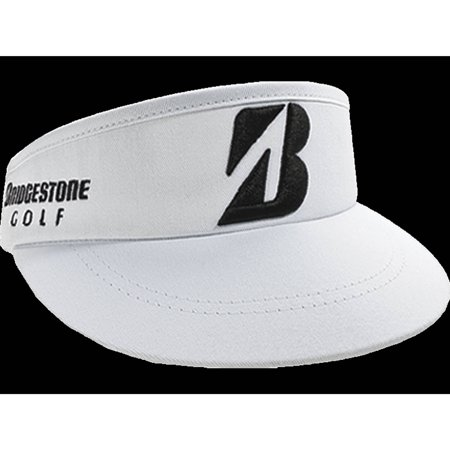 Bridgestone Golf Tour High Crown Visor, White Scotty Golf Visor