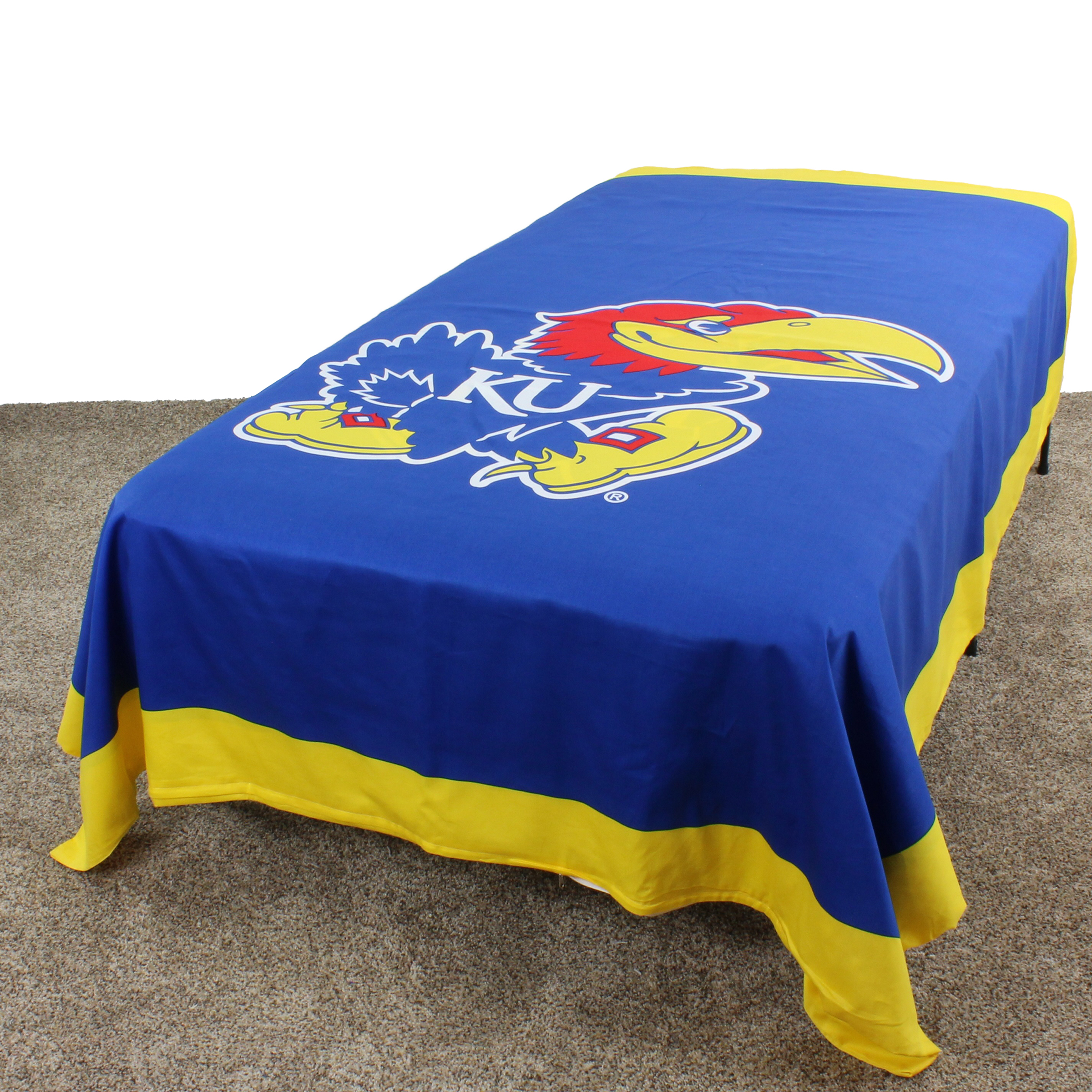 "Kansas Jayhawks Duvet Cover / Summer Blanket, 2 Sided Reversible, 100% Cotton, 68"" x 86"", Twin"