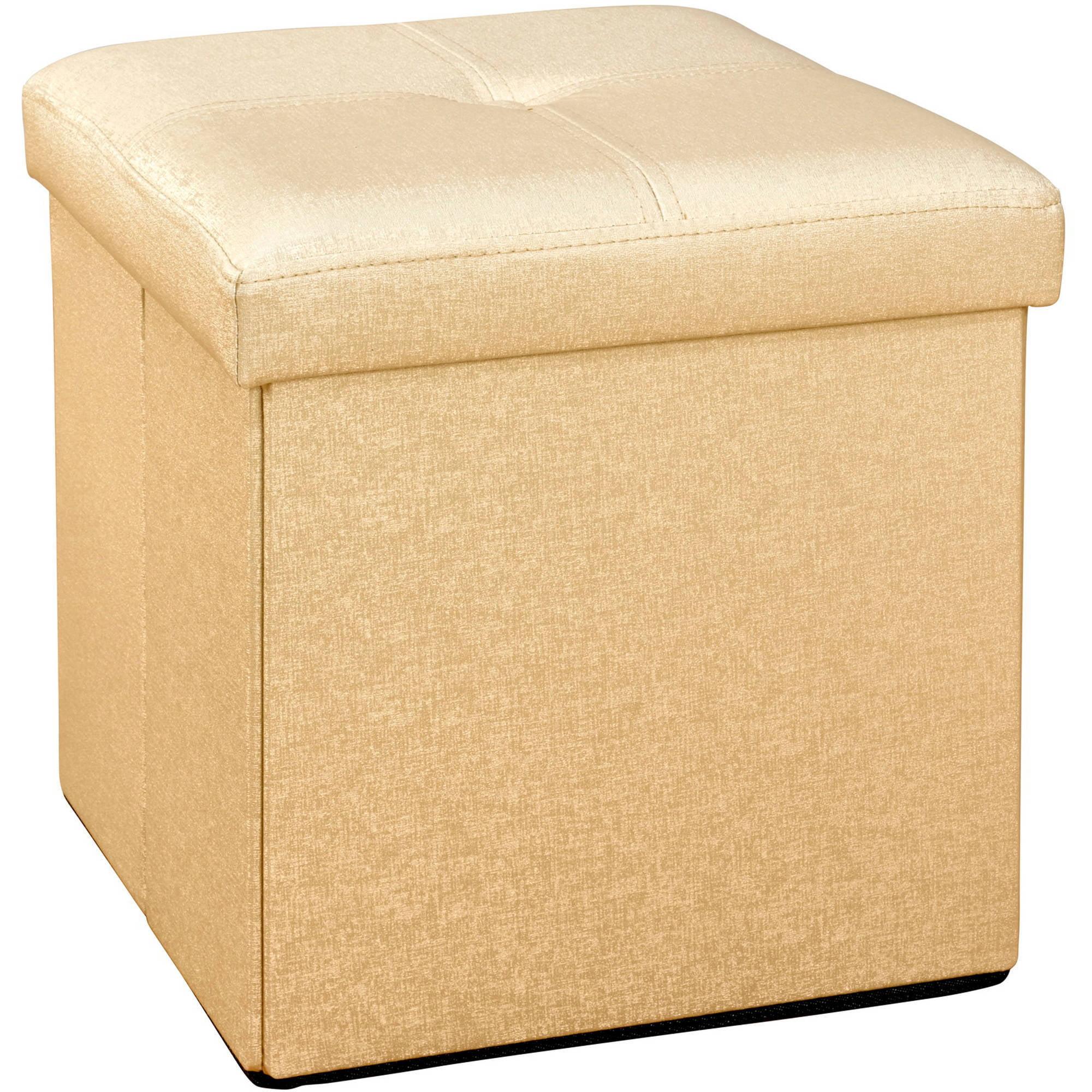 Simplify Single Folding Ottoman - Gold