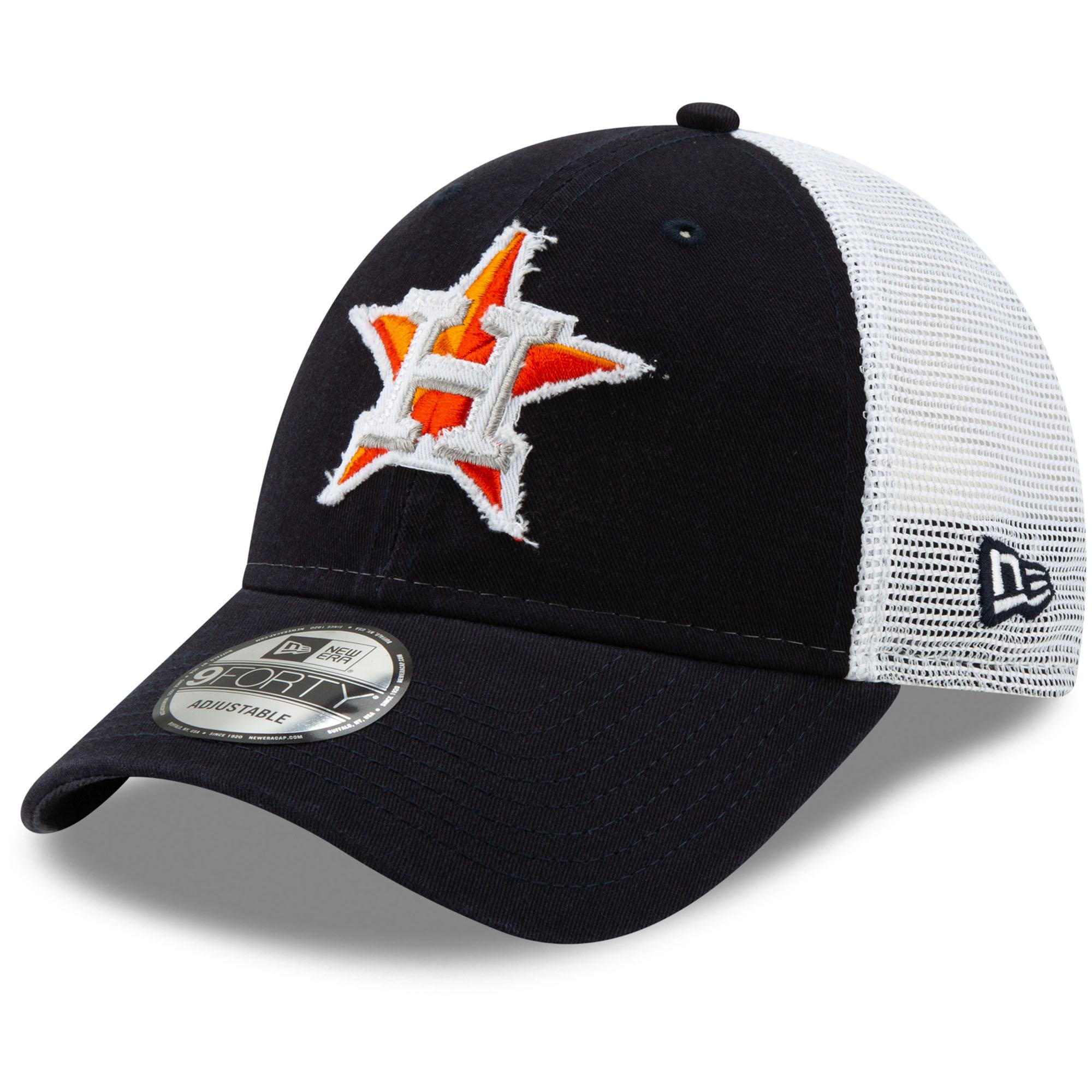 Houston Astros New Era Team Truckered 9FORTY Adjustable Hat - Navy/White - OSFA