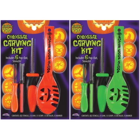 Halloween Pumpkin Carving With A Drill (Seasonal Colossal Pumpkin Carving Kit by Fun)