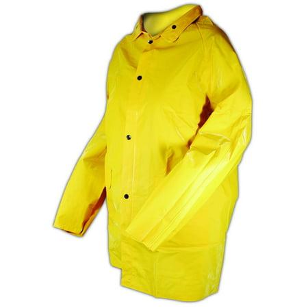 Magid RainMaster PVC Supported 14 Mil Rain Jacket XL, Each Pvc Rain Jacket