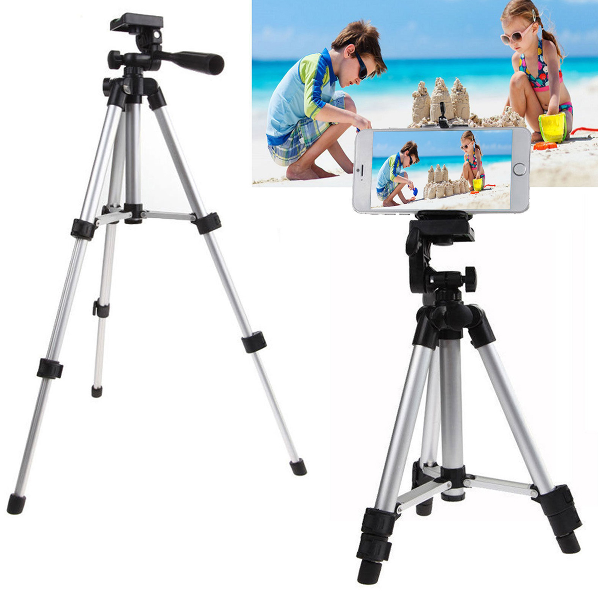 Phone Tripod Tsv Portable And Adjustable Camera Stand Holder For