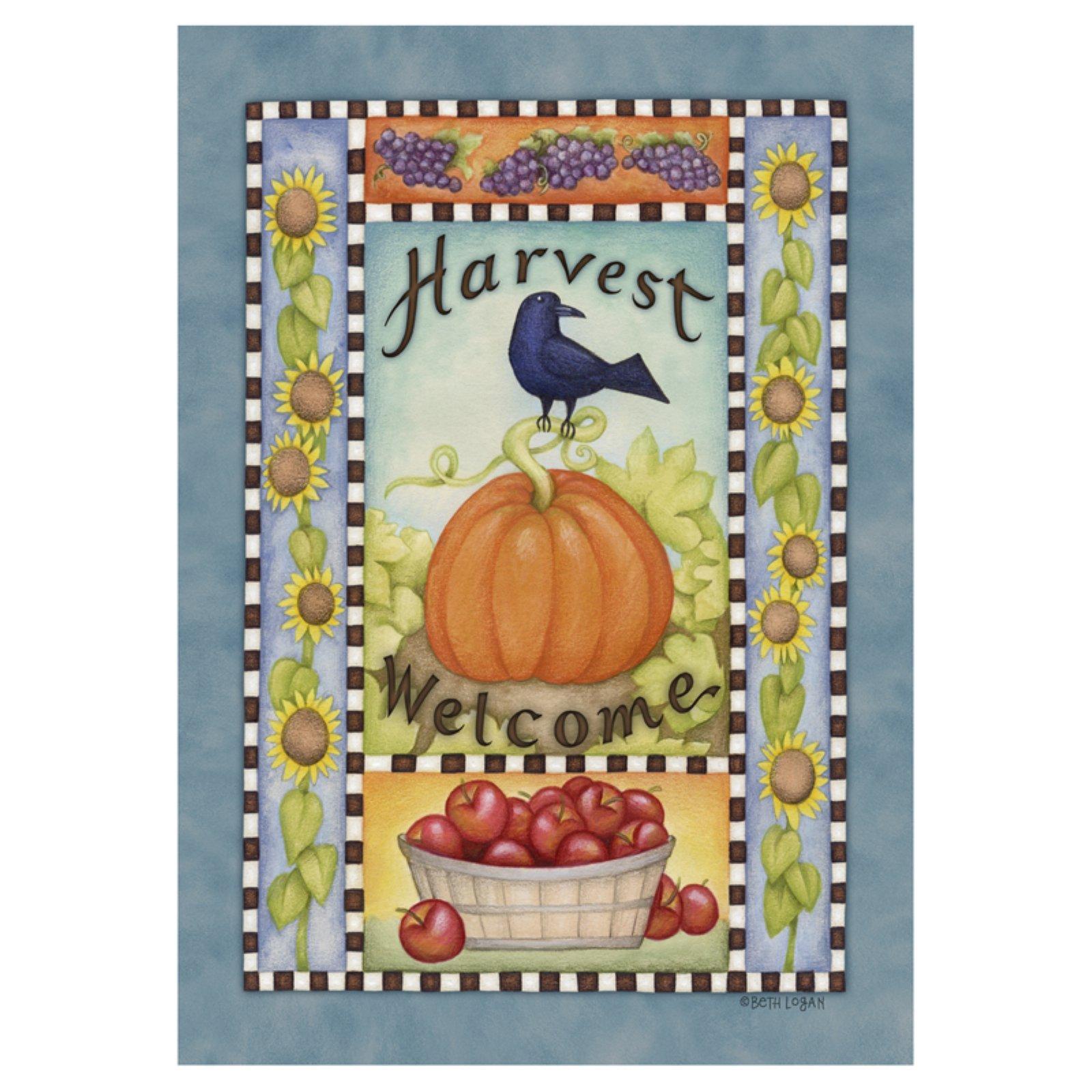 Toland Home Garden Abundant Harvest Flag