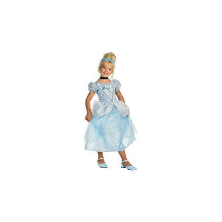 Cinderella Disney Girls Costume (Women's Deluxe Cinderella Movie Costumes)