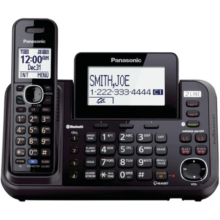 Panasonic Kx-tg9542b Dect 6.0 Link2cell 2-line 2-handset Bluetooth Phone (Panasonic Dect 6-0 Bluetooth 5 Handset Phone)
