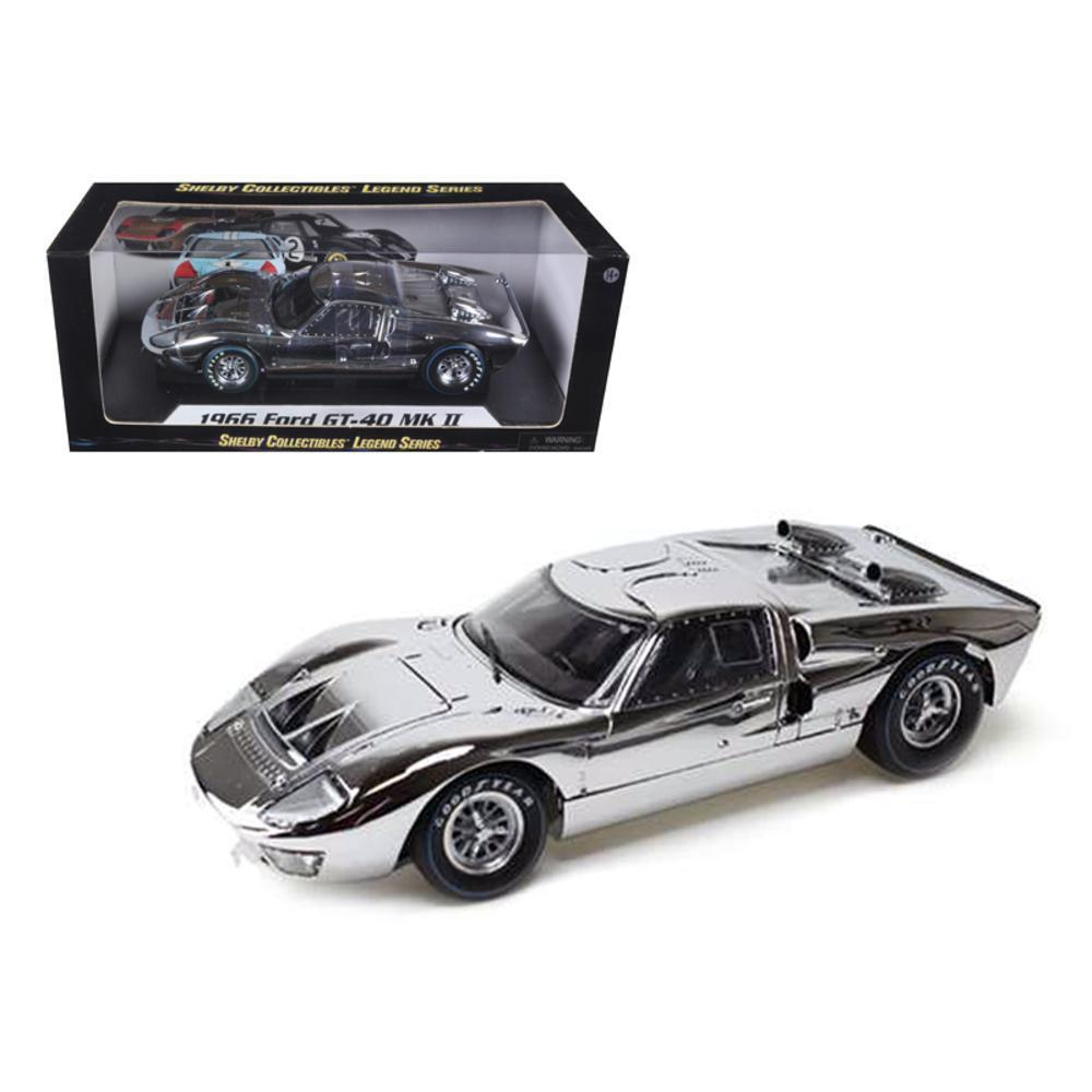 Ford Gt Chrome Edition Limited To Pc Worldwide  Cast Car Model By Shelby Collectibles Walmart Com