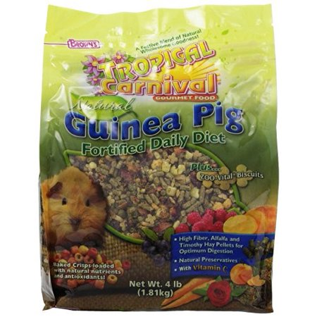FM Brown's Tropical Carnival Guinea Pig Food, 4 Lb