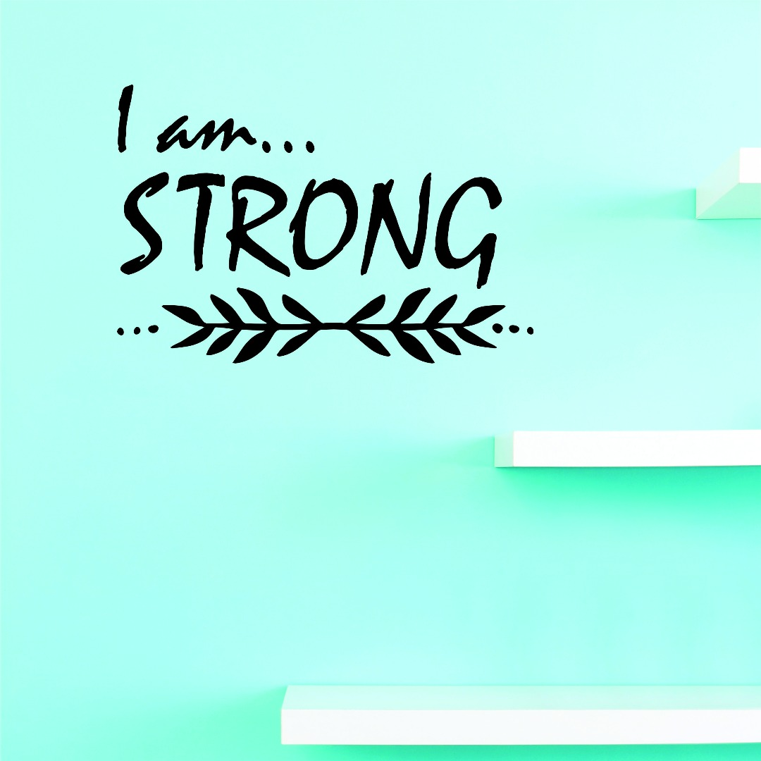 Living Room Art I Am Strong 16 X 16 Inches