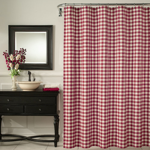 m.style Classic Check Shower Curtain