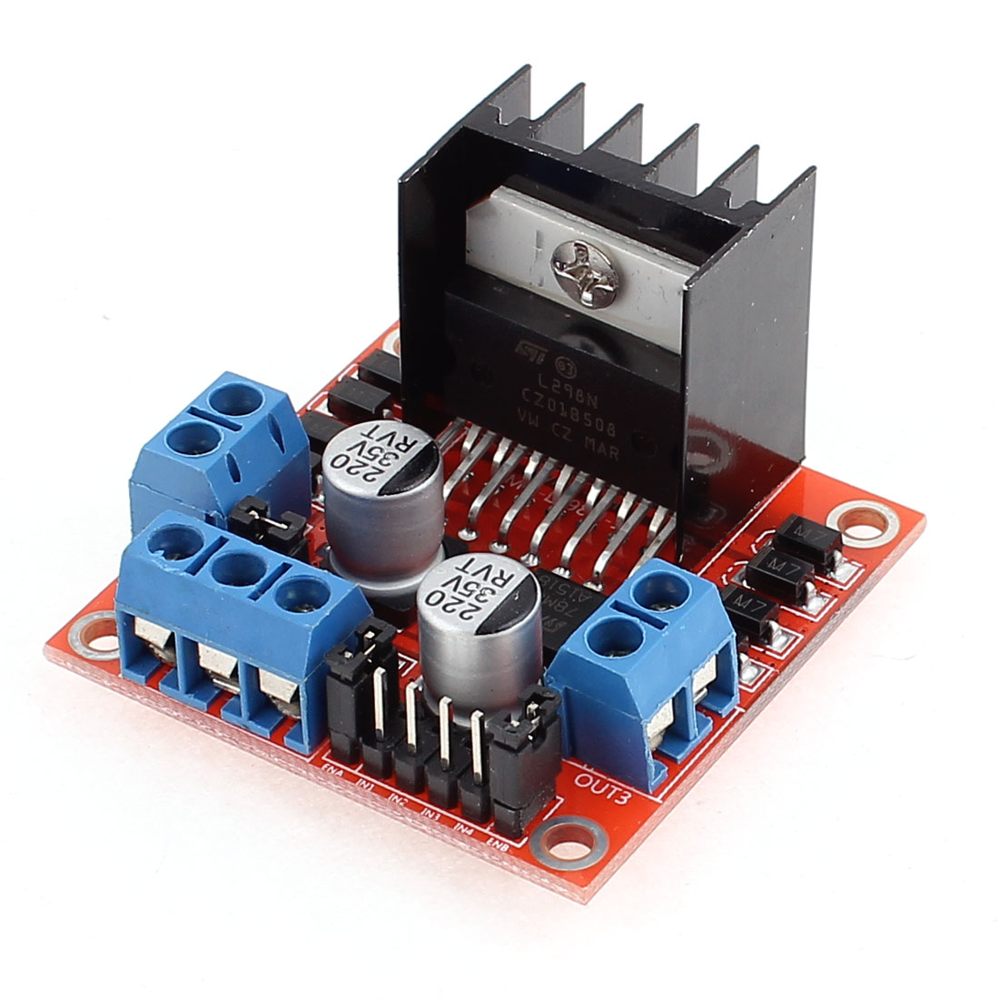 Microcontroller L298N Chip Stepper Motor Driver Module Board Red - image 2 of 4