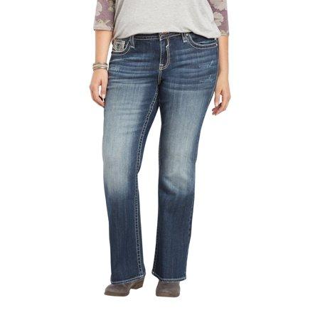 ab3f5fe465c Maurices Plus Size Vigoss Dark Wash Slim Boot Jean