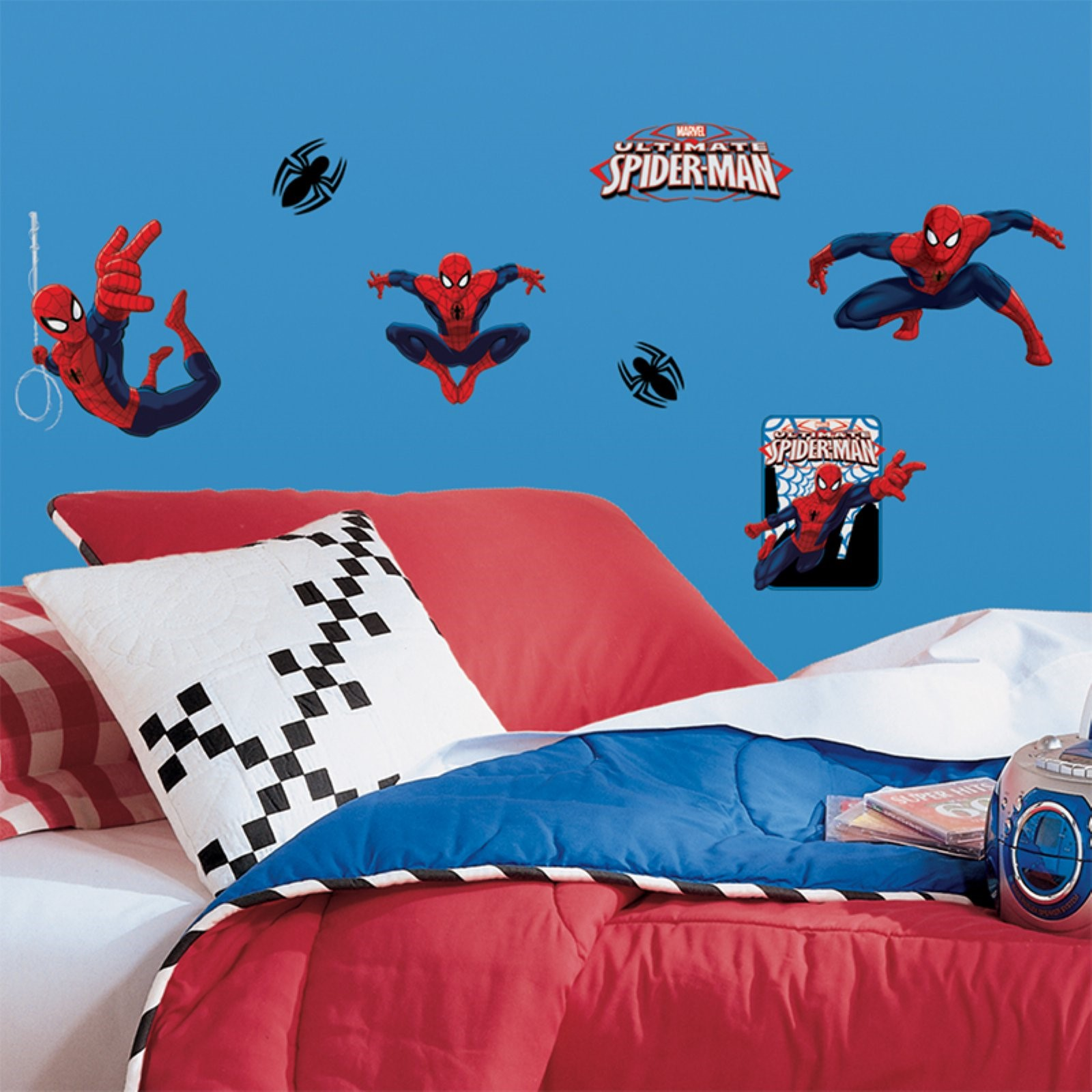 Ultimate Spiderman Peel Stick Wall Decals Walmart