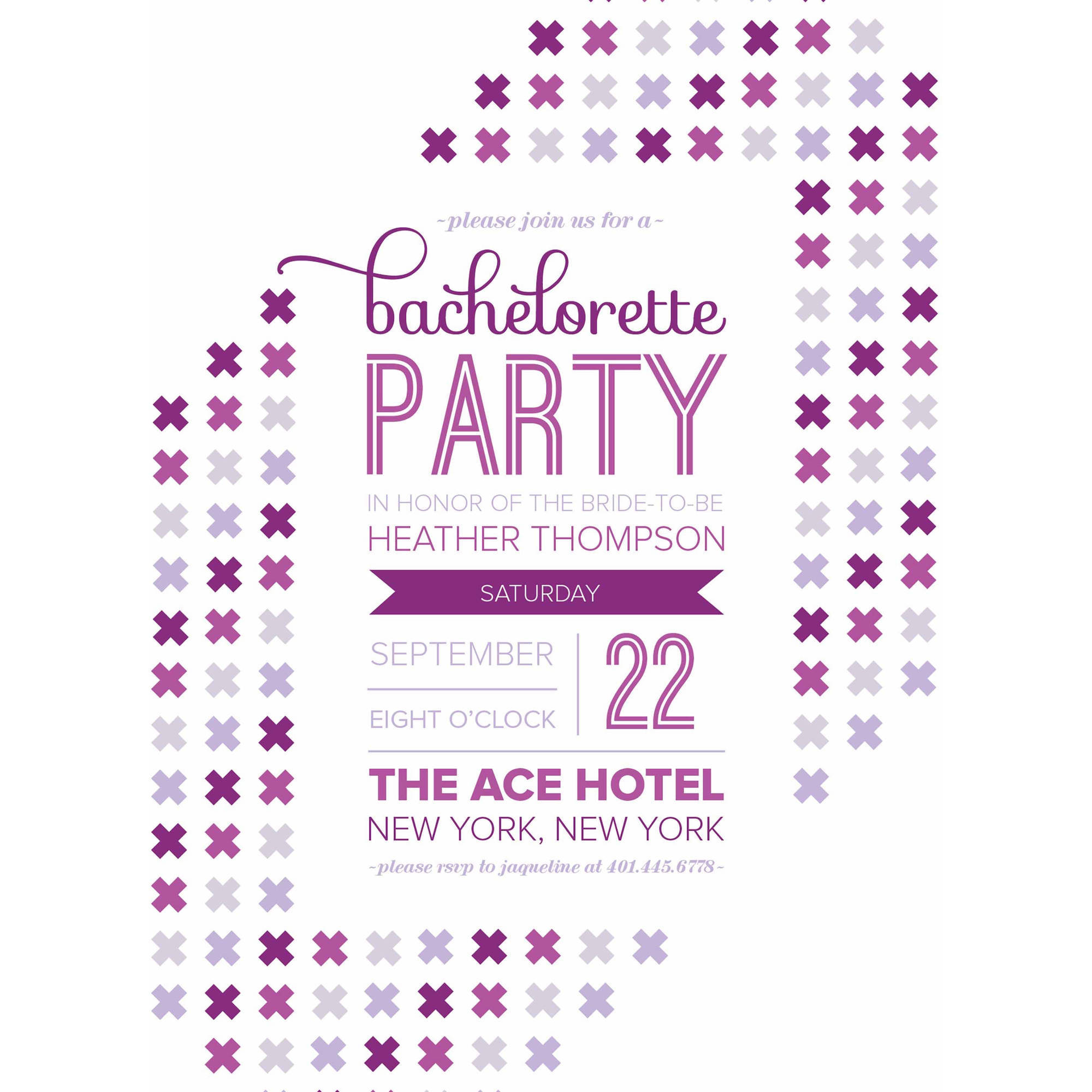 Ladies Night Party Invite Standard Bachelorette