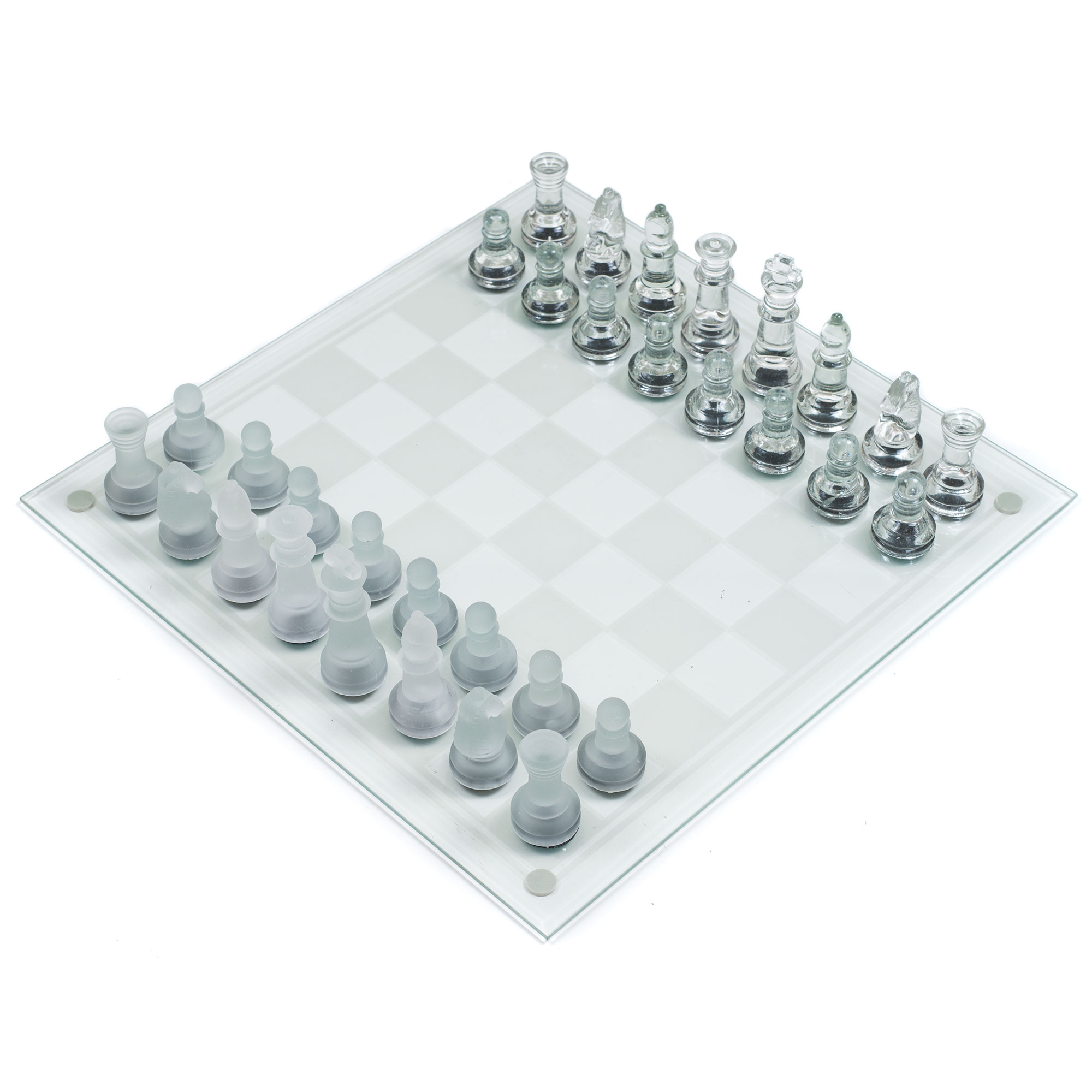 Deluxe Glass Chess Set by Hey! Play! by Trademark Global LLC