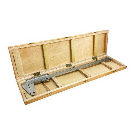 18 45cm 450mm Inch Metric Heavy Duty Vernier Caliper Ruler Wooden Case