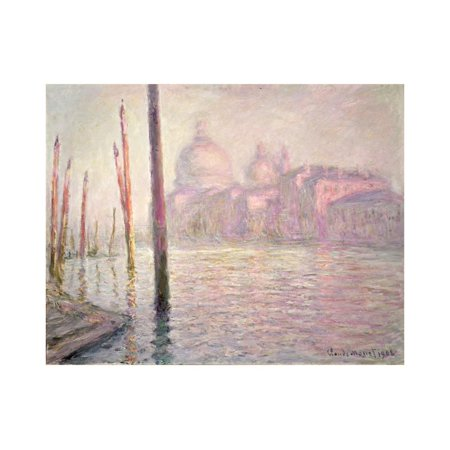 View of Venice, 1908 Print Wall Art By Claude Monet Claude Monet Sunset In Venice