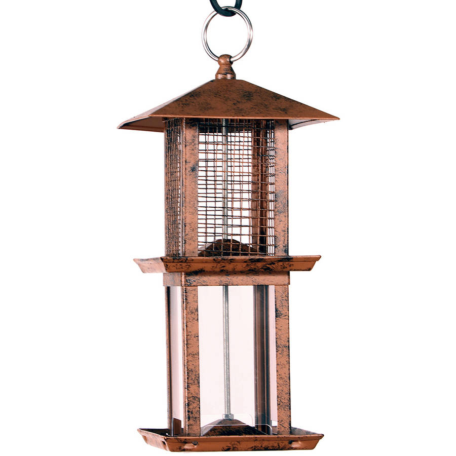 Audubon NA11251 1.5 Lb Capacity Brushed Copper Double Tower Bird Feeder