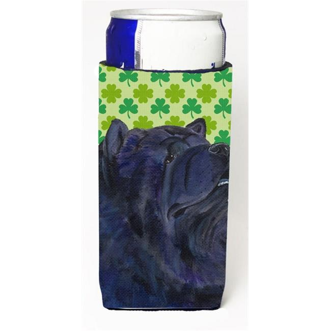Chow Chow St. Patricks Day Shamrock Portrait Michelob Ultra bottle sleeves For Slim Cans - 12 oz. - image 1 de 1