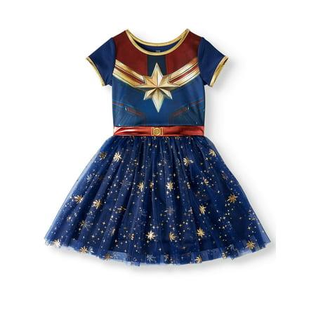 Tinkerbell Tutu Dress (Captain Marvel Cosplay Tutu Tulle Dress (Little Girls & Big)
