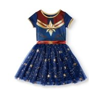 Captain Marvel Cosplay Tutu Tulle Dress (Little Girls & Big Girls)