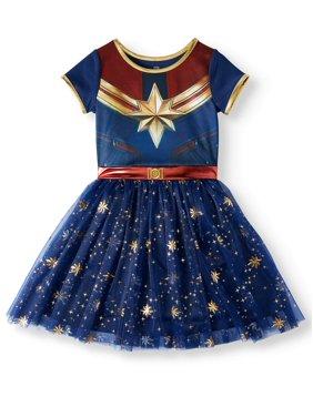 Captain Marvel Cosplay Tutu Tulle Dress (Little Girls & Big Girls)