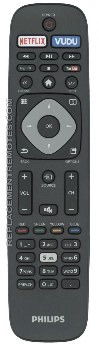 Substitute for PHILIPS URMT42JHG005 (p n: URMT42JHG005) TV Remote Control: PHILIPS NH500UP (p n: NH500UP)... by Philips