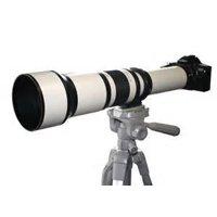 650-1300mm f/8-16 IF Telephoto Zoom Lens (White) for Canon EOS Rebel SL1, (100D) T5i, (700D) T4i, (650D) T3, (1100D) T3i, (600D) T1i, (500D) T2i, (550D) XSI, (450D) XS, (1000D) XTI (400D) XT, (350D) 1