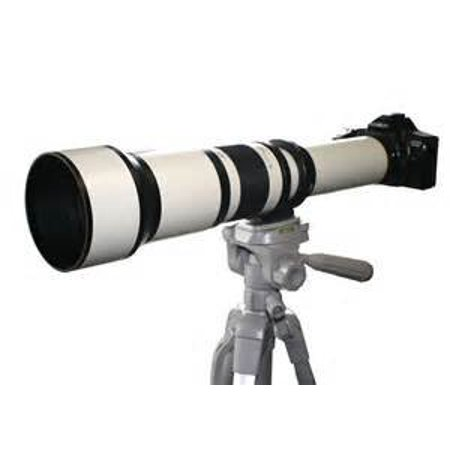 650-1300mm f/8-16 IF Telephoto Zoom Lens (White) for Canon EOS Rebel SL1, (100D) T5i, (700D) T4i, (650D) T3, (1100D) T3i, (600D) T1i, (500D) T2i, (550D) XSI, (450D) XS, (1000D) XTI (400D) XT, (350D) (Best Zoom Lens For Canon 1000d)