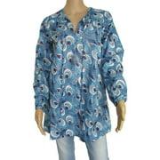 Womens 'Eclypse' Long Tunic Shirt/Dress, Blue, Size S