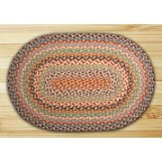 Earth Rugs C-328 Multi 1 Oval Braided Rug 6 Feet x 9 Feet
