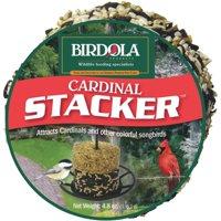 Birdola Cardinal Stacker 4.8 Ounces, Stackable Seed Cake For Wild Birds